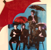 Beatles 65 Umbrellas Poster