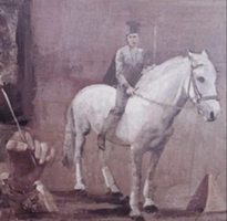 A Figure With Horse