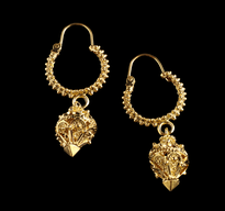 Earrings 1 Luster gold plated