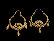 Earrings 3 Sisarike gold plated