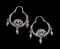 Earrings 3 Sisarike silver