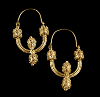 Earrings 4 Jagode gold plated