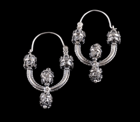 Earrings 4 Jagode silver