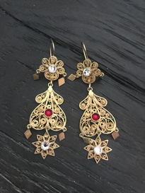 Earrings Filigran gold plated