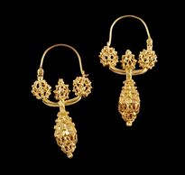 Earrings Suplje Trube gold plated