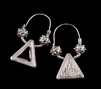 Earrings Trokut silver