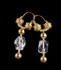 Earrings Visece Gorski Kristal gold plated