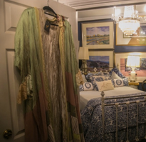 Flowing Dress and Room Decor
