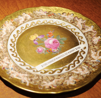 Hand Painted 22 Karat Gold Plate