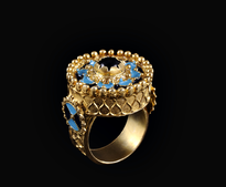 Ring Emajl gold plated
