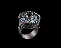 Ring Emajl silver
