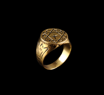 Ring Zvijezda gold plated