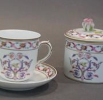 Three Tea Cups and a Covered Sugar Bowl